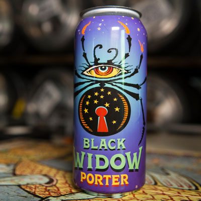 Black Widow Porter in cans