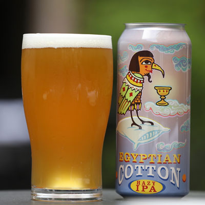 Egyptian Cotton Hazy IPA in cans