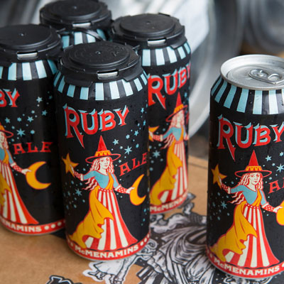 Ruby Ale in cans