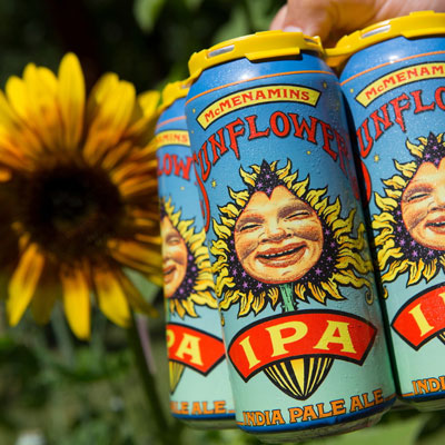 Sunflower IPA in cans