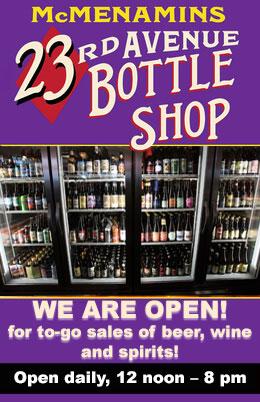 Bottle Shop is Open