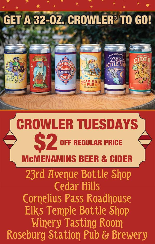 Crowler Tuesday Specials