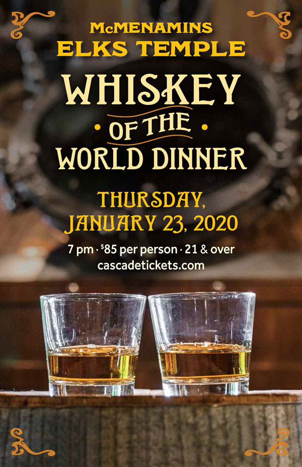 Whiskey of the World Dinner Elks